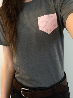 D-Ring faux pocket tee