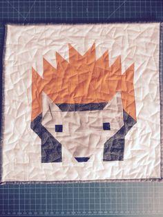 Henrietta hedgehog Hedgehog, Quilts, Blanket, Bed, Stream Bed, Quilt Sets, Hedgehogs, Blankets, Log Cabin Quilts