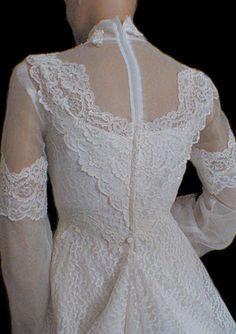 70's wedding dress style