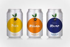 Juice of Classic Japanese Fruits packaging by Idea Brand