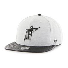 fb6bb0569b4d7 Miami Marlins Riverside Captain Gray 47 Brand Adjustable Hat