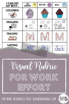 "Have you ever tried a visual rubric for student self-assessment?  This is a great tool for cueing a child to do his or her best work because it gives a picture description of what ""best work"" looks like.  I have found visual rubrics particularly useful for children who rush through their work, as it puts the emphasis on quality and effort, not the rate of completion."