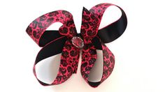 Hey, I found this really awesome Etsy listing at https://www.etsy.com/listing/198574491/boutique-hairbow-damask-red-damask-hair
