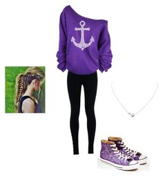 """Anchors away."" by kbaker-2 ❤ liked on Polyvore featuring NIKE, Converse and Humble Chic"