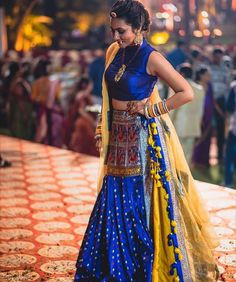 Our #drop-dead gorgeous #bride, Vishwa donning a #stunning Asopalav outfit!