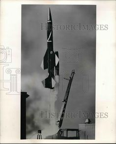 1957 Press Photo Test Launch of The Boeing Bomarc Missile