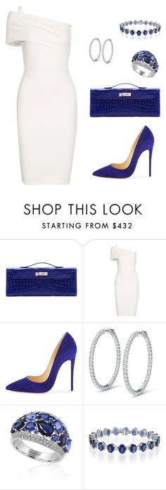 """""""Untitled #416"""" by nadiralorencia on Polyvore featuring Hermès, Michelle Mason, Christian Louboutin and Effy Jewelry"""