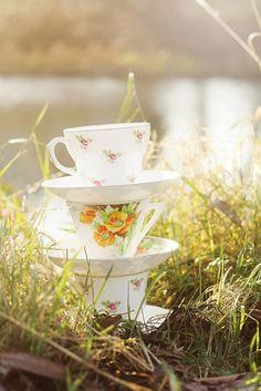 three little teacups by gingerlillytea, via Flickr
