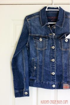 I'd love to see a somewhat fitted denim jacket in my Stitch Fix Box! Love the wash and details on this one.