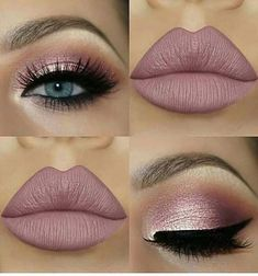 Schöne falsche Wimpern kombiniert mit nude Lippenstift - eye make up makeup makeup up artistico up night party make up make up gold eye make up eye make up make up Nude Makeup, Pink Makeup, Makeup Inspo, Eyeshadow Makeup, Hair Makeup, Makeup Ideas, Makeup Hacks, Makeup Brushes, Pink Eyeshadow