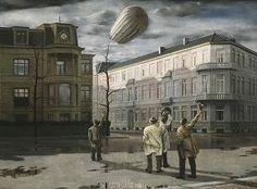 Carel Willink, De zeppelin, 1933. Collectie Museum MORE. © Sylvia Willink-Quiël