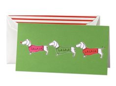 Why only in the states??  kate spade | stationery paper - holiday 2011 stationery - singing dachshunds notes