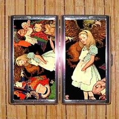 alice in wonderland 100s double sided cigarette cosmetic case wallet