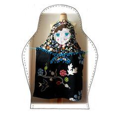 Déco sans prétention - Lapin en toile de… - Housse de coussin… - Hochet en tissu… - Gant poupée russe… - Tablier poupée russe - dans mon bocal