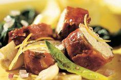 Knuspriges Hähnchen+Spinat