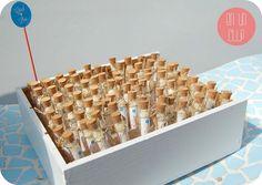 Una forma original de presentar el arroz para la boda. www.enunclip.com arroz-boda-azul-naranja