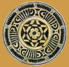 İznik Milet ware, bowl, red clay, diameter:15 cm ,15 th century, Kuwait National Museum, The Al-Sabah Collection (X)  (Erdinç Bakla archive)