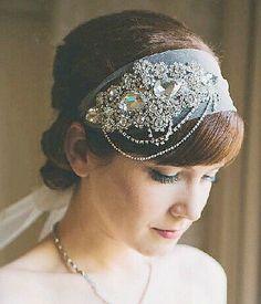 rhinestone bridal appliquerhinestone headband by lacetime on Etsy