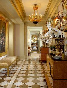 Beautiful entry by William R. Eubanks Interior Design