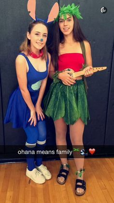 Disney Lilo and Stich DIY Halloween Costumes.                                                                                                                                                                                 More
