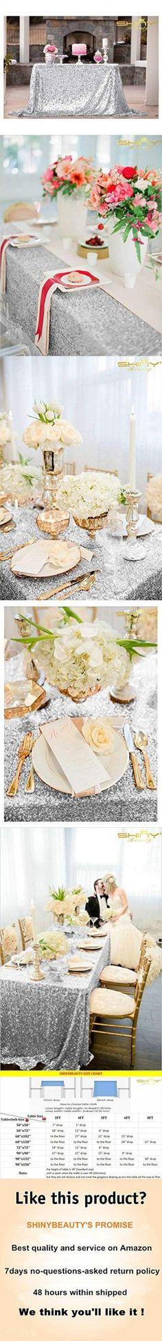 ShiDianYi 50''x72''Silver Sequin Tablecloth, Wedding Table Cloth, Sparkle Sequin Linens, Glitz, Sequin Cake Tablecloth, Sequin Tablecloth (50''x72'') - Wedding day ,  #50x72 #50x72Silver #Cake #cloth #DAY #Glitz #Linens #Sequin #ShiDianYi #Sparkle #Table #Tablecloth #Wedding Sequin Curtains, Sequin Backdrop, Sequin Tablecloth, Sequin Cake, Silver Sequin Skirt, Navy Blue Table Runner, Wedding Table, Wedding Day, Christmas Backdrops