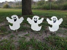 Halloween Decoration – Ghost – Happy Ghost – Glow in the dark yard decoration
