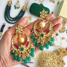 Double tap if you want us to keep them stunners coming PS: Have you checked out our newest jewels that went live today? Indian Wedding Jewelry, Bridal Jewelry, Gold Jewelry, Indian Accessories, Women Jewelry, Fashion Jewelry, Best Friend Jewelry, Engraved Necklace, India Jewelry