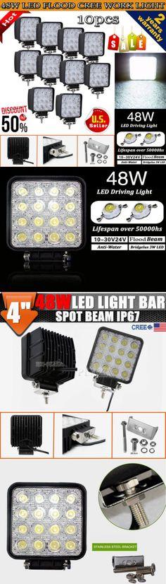 Car Lighting: 10Pcs 48W Cree Led Work Light Flood Beam Lamp Offroad Truck 12V Suv Fog Atv Jeep -> BUY IT NOW ONLY: $77.59 on eBay!