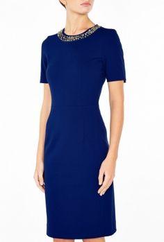 Blue Embellished Dress By Paul Smith Black