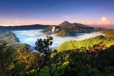 Watching the clouds roll in over Bromo-Tengger-Semeru National Park in Bali.