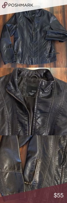 Gorgeous A.N.A jacket EUC. Please see pics. Color is back with a little metallic bronze color accenting it. Rarely worn. Soft coat. Not leather. a.n.a Jackets & Coats