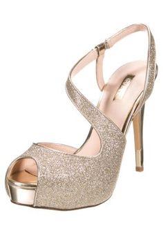 HILARIELY - Sandales à plateforme - gold Wedding Dress Accessories, Wedding Shoes, Guess, Gold Shoes, Peep Toe, Shoe Bag, Outfit Ideas, Style, Fashion