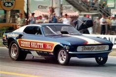 CONNIE KALITTA 'Bounty Hunter' Mustang Funny Car Funny Car Drag Racing, Funny Cars, Connie Kalitta, Nhra Drag Racing, Old Race Cars, Vintage Race Car, Drag Cars, Vintage Humor, Car Humor