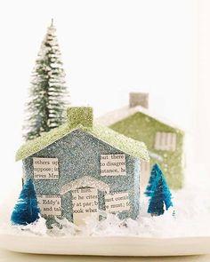 Make your own cardboard/putz village houses