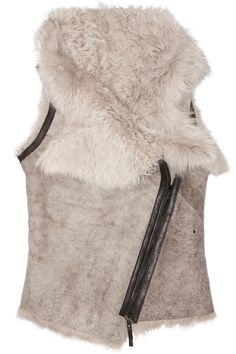 5c7f7e9004514 Shop for Leather-trimmed shearling gilet by Karl Donoghue at ShopStyle.