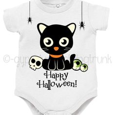 Who says Halloween can't be cute! Check out this spooky cute little baby outfit! #etsyhunter #etsyseller #etsyshop #etsy #halloween