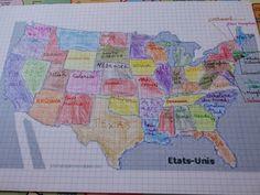 Quotidien d'une curiosifée: Etats-Unis: la carte