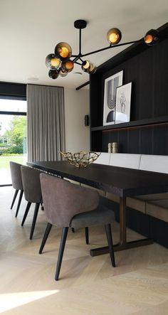 Modern Interior Design, Interior Styling, Design Studio, House Design, Dining Corner, Dining Tables, Villa, Home And Living, Living Room