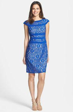 Adrianna Papell Lace Sheath Dress (Regular & Petite) | Nordstrom   Inspirations | Bride & Groom