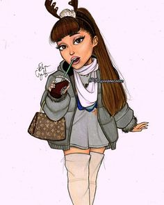 Christmas outfits on point! @arianagrande // pls tag her and repost if you want!❤