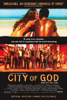 This film is based on a true story. Two boys growing up in a violent neighborhood of Rio de Janeiro, know as City of God slum, take differents paths. This film shows how difficult is living in brazilian slums. City Of God, Great Films, Good Movies, Saddest Movies, See Movie, Movie Tv, Movies Showing, Movies And Tv Shows, Films Cinema