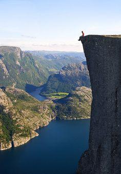 Saffron Blaze's death-defying shot of Prelkestolen in Norway is this week's winning Photo of the Week from Yahoo! Travel.