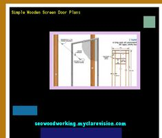 Simple Wooden Screen Door Plans 074240 - Woodworking Plans and Projects!