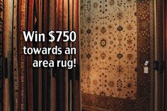 Win $750 towards an area rug!