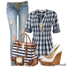 Cute picnic outfit.