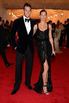 """Tom Brady and Gisele Bundchen attend the Costume Institute's gala for the exhibit """"Schiaparelli and Prada: Impossible Conversations"""" at New York's Metropolitan Museum of Art on May 7, 2012."""