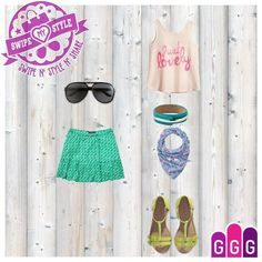 Swipe My Style: Summer Outfit More games at GirlsGoGames.com