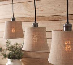 natural burlap lamp shades