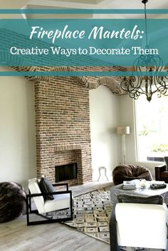 We've compiled some great ways you can decorate your fireplace mantel and turn it into a masterpiece #mortonstones #brickwall #rustic #modernhome #decor #interiordesign #interior #homeideas #brickveneers #accentwall #fireplace