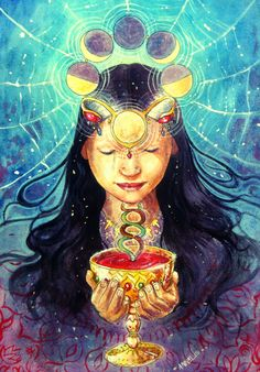 The mystical, fantastical, spiritual art of Annelie Solis. Paintings & other creations. About the artist. Illustrations, Illustration Art, Psy Art, Spirited Art, Sacred Feminine, Mystique, In Ancient Times, Visionary Art, Sacred Art